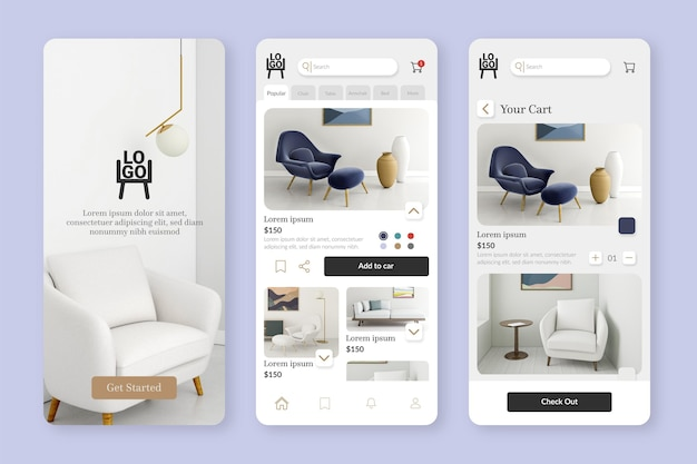 Furniture shopping app template