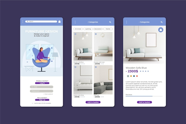 Furniture shopping application template