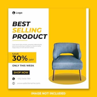 Furniture social media banner template