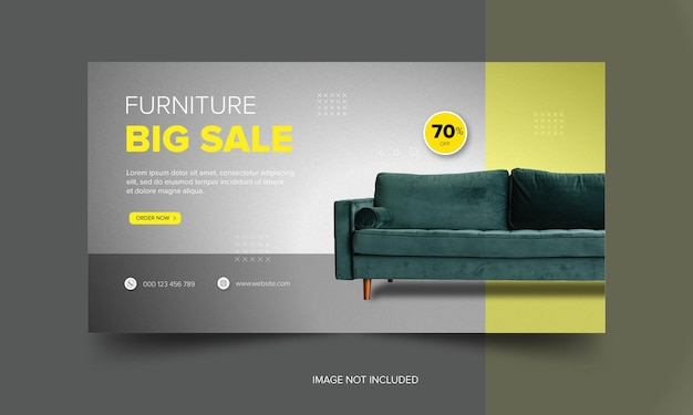 Furniture social media banner