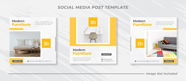 Furniture social media and instagram post template