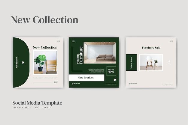Furniture social media post template
