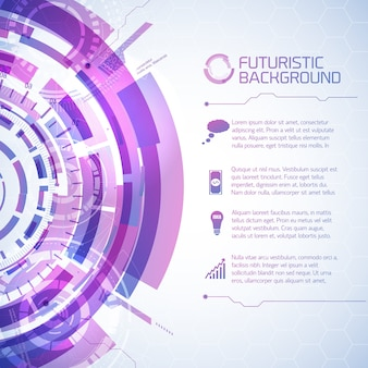Fururistic elements info background