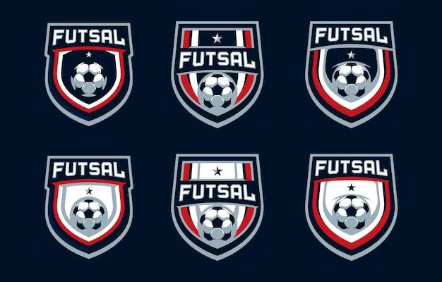 Futsal sport logo
