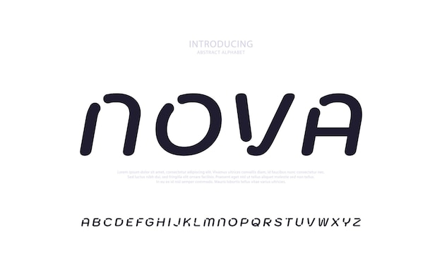 Future abstract alphabet font typography urban style