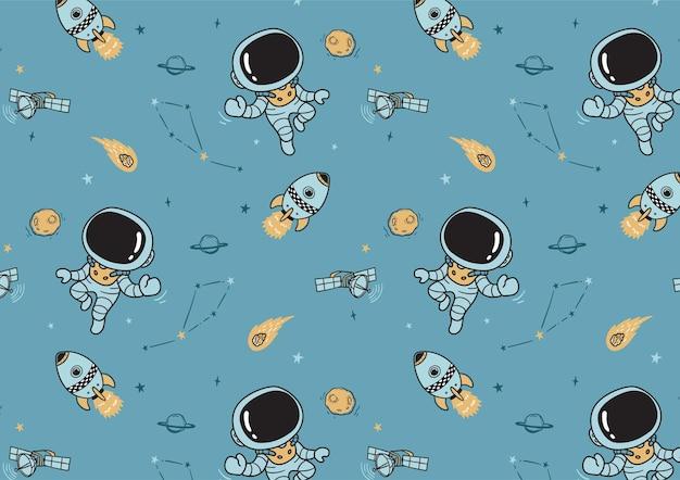 将来の宇宙飛行士のパターン