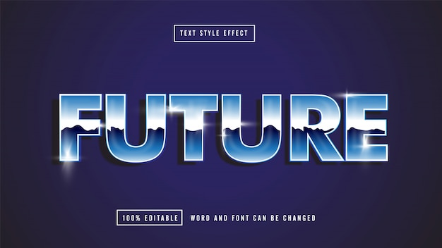 Future blue editable text
