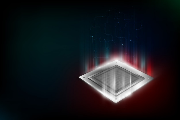 Future computer processor, electronic technology background