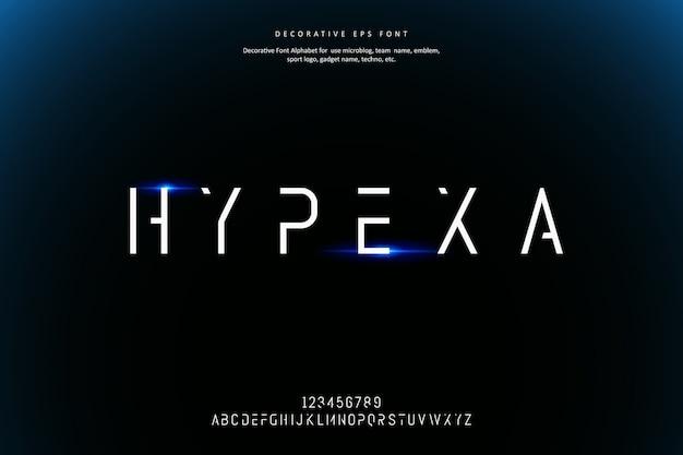 Минималистичный шрифт декоративного алфавита future creative future