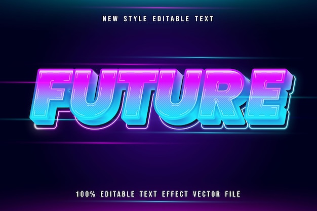 Future editable text effect modern neon style
