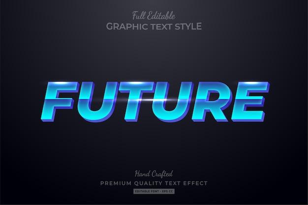 Эффект стиля редактируемого текста будущего