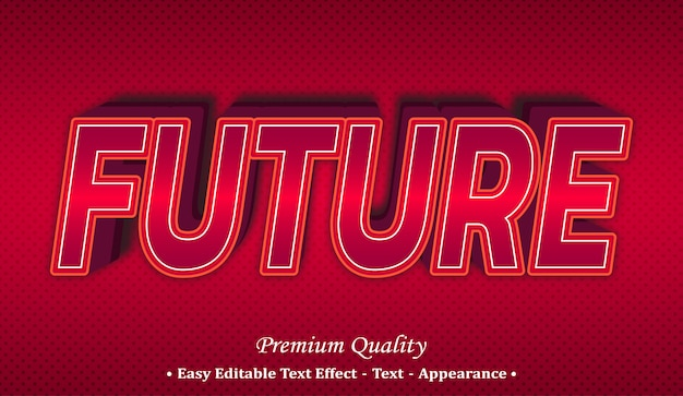 미래의 글꼴 스타일 효과