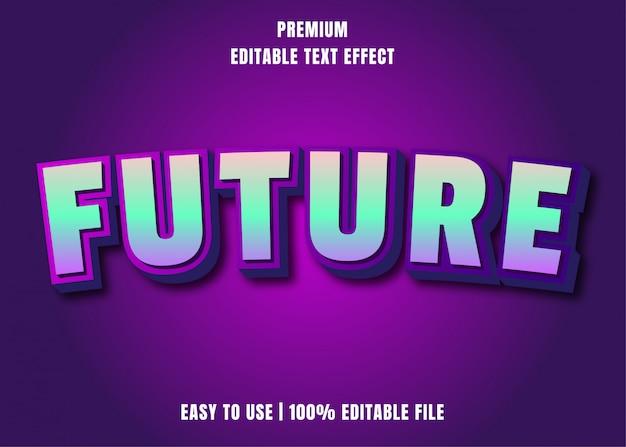 Редактируемый текстовый эффект - future font style