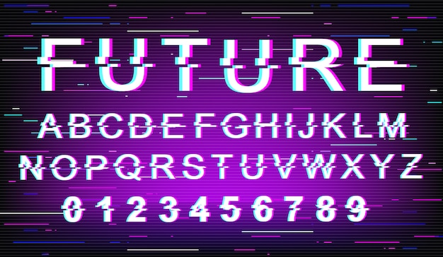 Future glitch font template