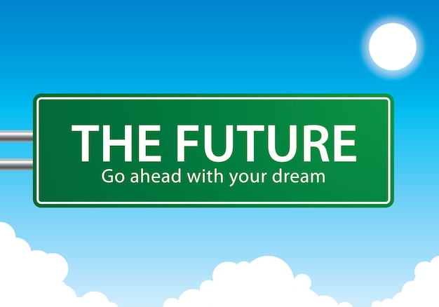 The future go ahead with your dream text