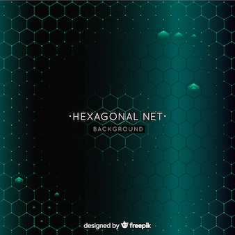 Future hexagonal net background