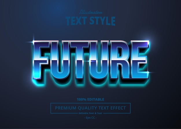 Future illustrator text effect