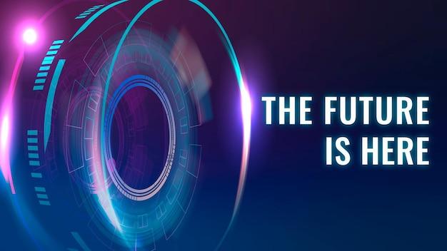 미래는 여기 템플릿 벡터 ai 기술 블로그 배너입니다