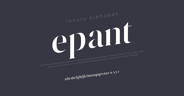 未来の高級アルファベットフォントタイポグラフィアーバンスタイル