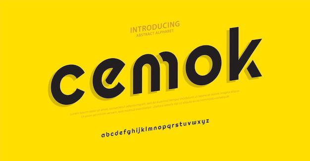 Будущее минимальный алфавит шрифт типография городской стиль