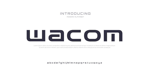 Future modern alphabet font typography urban style