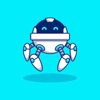 Future modern cute robot vector illustration design