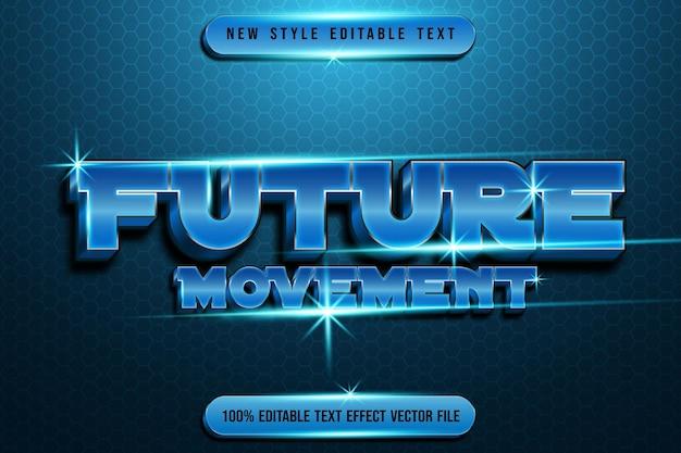 Редактируемый текстовый эффект будущего движения в современном стиле