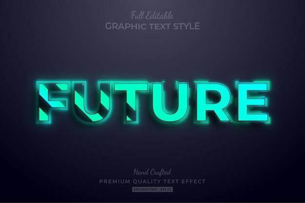 Будущий стиль шрифта с редактируемым текстовым эффектом с удаленным редактируемым текстом