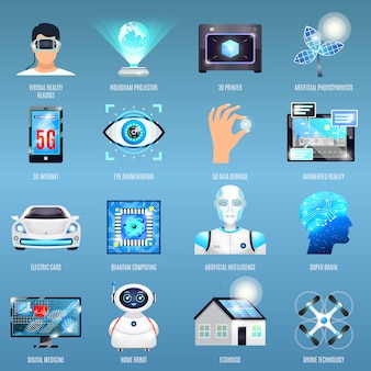 Future technologies icons
