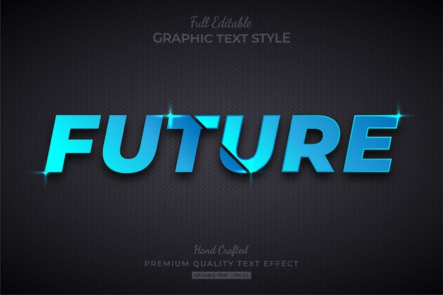 Future technology editable text effect font style Premium Vector