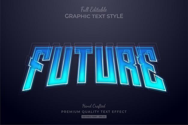 Future technology editable text effect