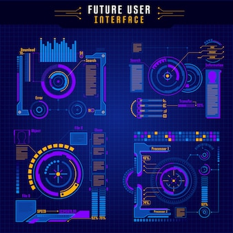 Future user interface icon set