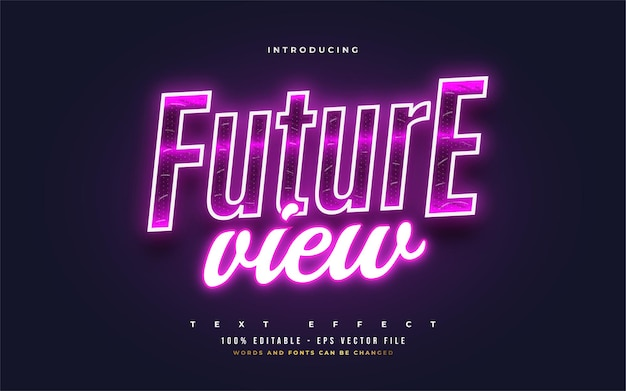 Future view editable text style effect