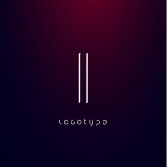 Буква i в стиле футуризм, минималистичный тип для современного футуристического логотипа, элегантная монограмма в стиле кибер-тек