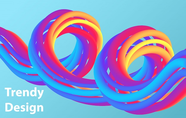 Futuristic abstract background. 3d illustration of a fluid shape. abstract landing page template.