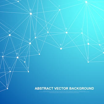Futuristic abstract background blockchain technology. peer to peer network business concept.