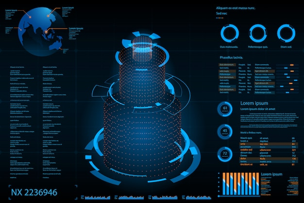Futuristic abstract background. future theme concept background. data dashboard, graph, panel digital concept
