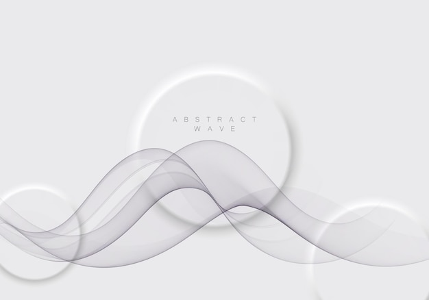 Futuristic abstract background with smooth swoosh line modern gray layout. vector illustration