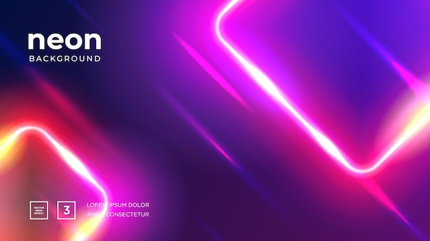 Futuristic abstract colorful vector background with glowing electric bright neon lines
