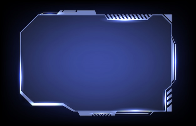 Futuristic abstract hud sci fi frame template layout design concept background