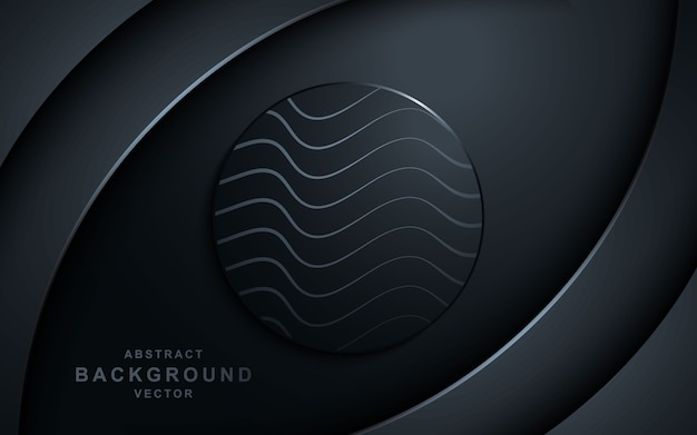 Futuristic abstract modern navy background with overlap layer and cirlcle.