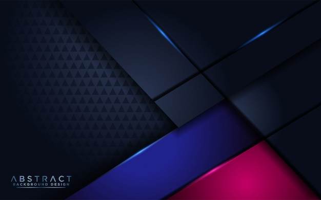 Futuristic abstract modern navy background with overlap layer