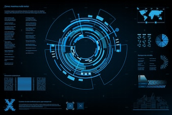 Futuristic abstract technology background