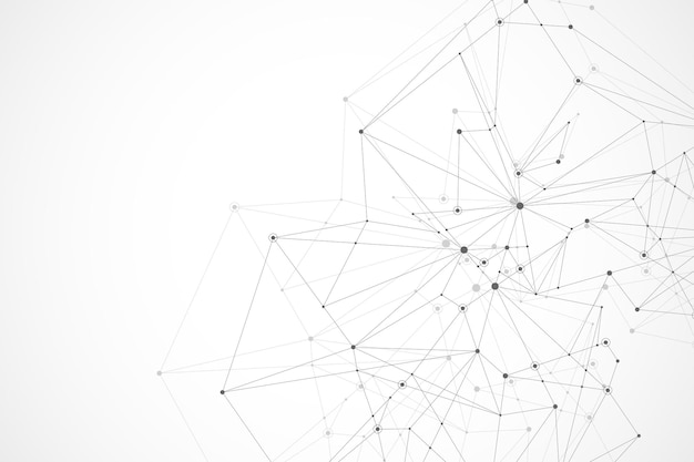 미래의 추상적 인 벡터 배경 블록 체인 기술 피어 투 피어 네트워크 비즈니스 개념 gl ...