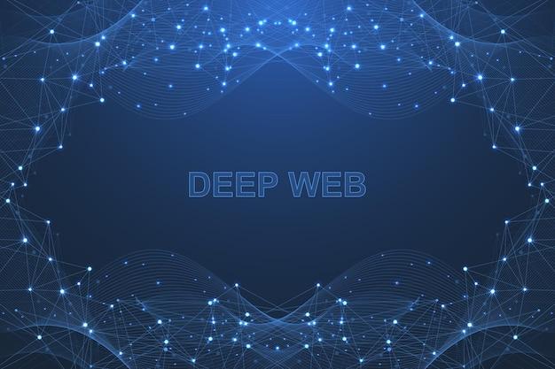 미래의 추상적인 벡터 배경 blockchain 기술입니다. 피어 투 피어 네트워크 비즈니스 개념입니다. 글로벌 암호화폐 블록체인 벡터 배너입니다. 웨이브 플로우.