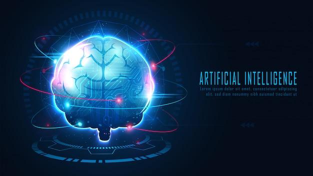 Futuristic ai brain concept
