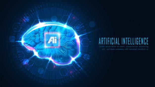 Futuristic ai brain