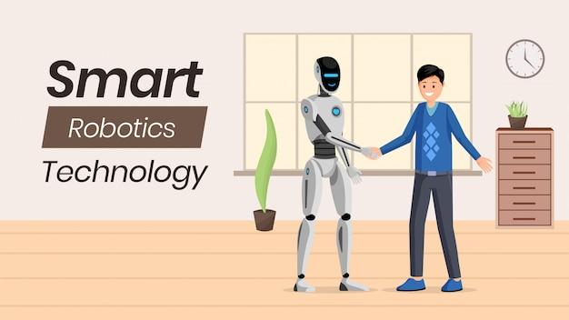 Futuristic ai technology  banner template.