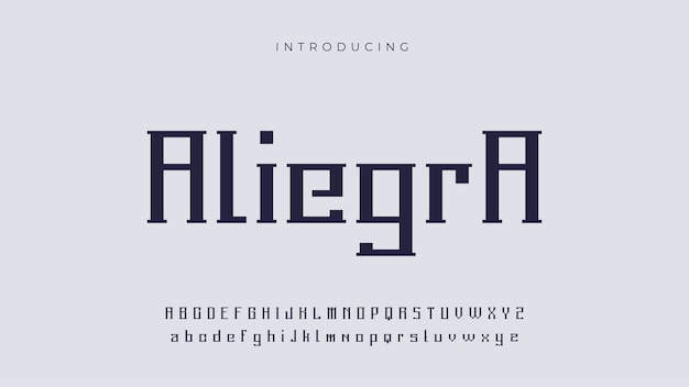 Футуристический шрифт aliegra