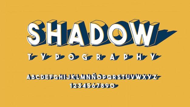 Футуристический алфавит с размерным эффектом